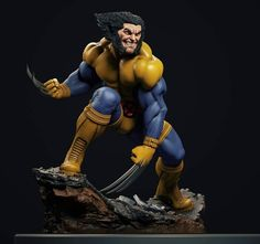 "Nerd Reverse on Instagram: ""Wolverine • Digitally Sculpted by @francocarlesimo _ #NerdReverse #xmen #wolverine #sabretooth #xforce #magneto #jimlee #marvel #comicbook…"" Logan Wolverine, X Force, Jim Lee, X Men, Deadpool, Sculpting, Nerd, Comic Books, Marvel"