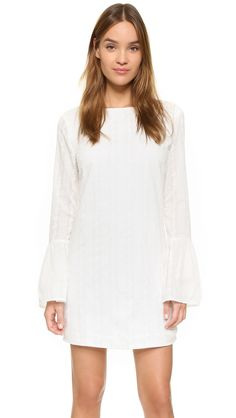 English Factory Flare Sleeve Mini Dress - Off White | SHOPBOP.COM saved by #ShoppingIS