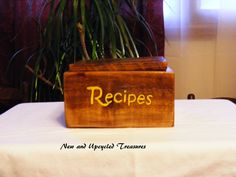 Recipe box custom order