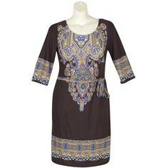 Brown Sweater Knit Dress ($46) via Polyvore