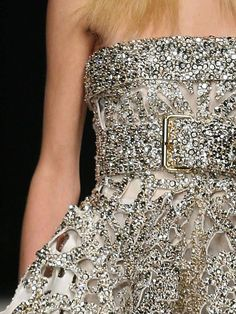 Givenchy Haute Couture S/S Silver and gold beaded embellished sheer dress gown. Haute Couture Style, Couture Mode, Dior Couture, Couture Fashion, Couture Details, Runway Fashion, Fashion Details, Look Fashion, High Fashion