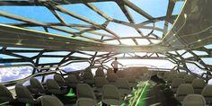 Airbus' plane of the future, we take a peek inside => http://www.wego.com/news/2050s-transparent-plane-of-the-future/