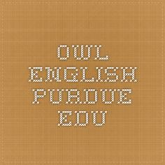 owl.english.purdue.edu --- exploratory essay help