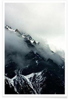 Misty Mountains en Affiche premium par Laura Palm | JUNIQE