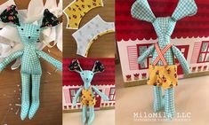 Sewing the Mouse from the Heather Ross Trixie Fabric Mouse Panel   MiloMila LLC