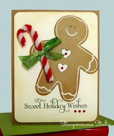 Another Gingerbread Man Card by me.