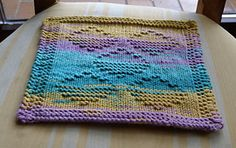 Ravelry: Space Invaders in a Bubble Gum Sky pattern by Margot Stock wash cloth free pattern