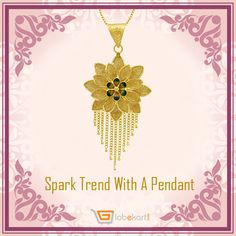 Set up your own trend and stay stylish. Click http://bit.ly/2eVSi68  and buy Minakari Padma Gold Pendant for your own style. Thinking to explore other designs? Visit ⇉   http://bit.ly/2f08BmX   and throw a glance at stunning gold and diamond jewelleries. Get flat Rs 1000 off on jewellery purchase. Hurry up and grab the opportunity now.   #GoldPendant #Globekart #FlatRs1000Off #GoldJewellery #Diamond #BeJewelled
