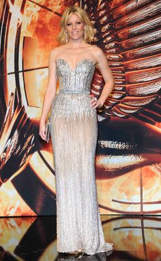 Elizabeth Banks in Ellie Saab at the newest Hunger Games premiere in Berlin