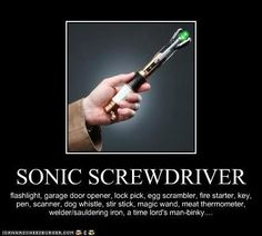 Sonic Screwdriver Uses