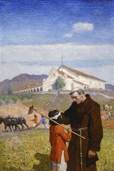 A California Mission by N.C. Wyeth