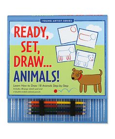 Love this Ready, Set, Draw: Animals Set on #zulily! #zulilyfinds
