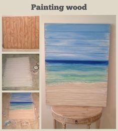 DIY, Beach crafts, wood paint. Guest room headboard idea. Maybe ?