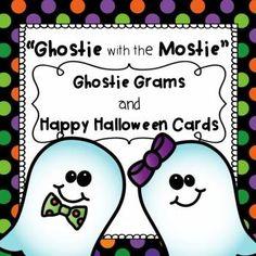 Halloween, Halloween Cards, Halloween Activities, Motivational, Team/Class Building, School Climate, Fun, Writing, Grams