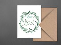 Weihnachten - Weihnachtskarte / Evergreen No. 2 - ein Designerstück von typealive bei DaWanda