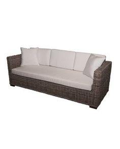 Wicker 3 Seat Cube Sofa