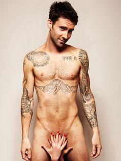 Adam Levine posing for a testicular cancer awareness ad. So stinking sexy!