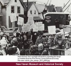 Protesters With Signs Haven Street Fair Haven Project Area New Haven Connecticut History Online Connecticut History National History Day History Online