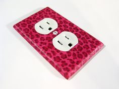 Hot Pink Cheetah Spots Bedroom Decor Electrical by ModernSwitch, $7.00