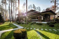 «Дом в стиле Райта» от Yunakov Architecture & Design
