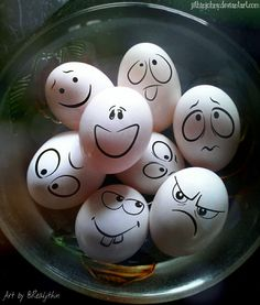 Crazy Eggs by jithinjohny on DeviantArt – feather crafts Holiday Crafts, Fun Crafts, Diy And Crafts, Crafts For Kids, Funny Easter Eggs, Funny Eggs, Easter Egg Designs, Rock Painting Ideas Easy, Feather Crafts