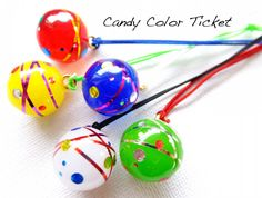 ネイル用資材とレジンで水風船ヨーヨー   CANDY COLOR TICKET/スイーツデコアート Uv Resin, Candy Colors, Resin Jewelry, Clay, Jewels, Christmas Ornaments, Beads, Holiday Decor, Handmade