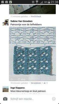 Patroon van rechte sjaal