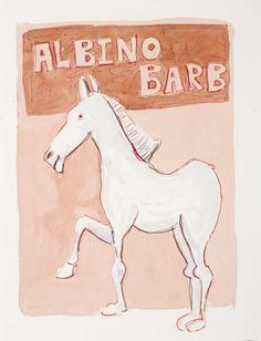 Albino Barb by Colbert Mashile Albino, Watercolour, Artwork, Artist, Prints, Watercolor, Work Of Art, Watercolor Painting, Watercolor Art