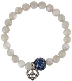 Loree Rodkin sapphire and diamond charm beaded bracelet