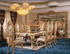 Yes I could dine here just fine!Classic Italian Avant Garde & European Avant Garde Dining Room Furniture. ♡