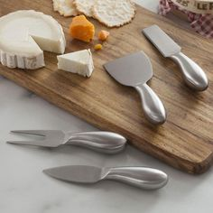 Every type of cheese requires a different knife and our Gleam Cheese Knife Set has all the tools you need for your next cheese tasting party.