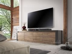 TV-Meubel Monaco - Grijs - Eiken - 4 vakken - 170 cm