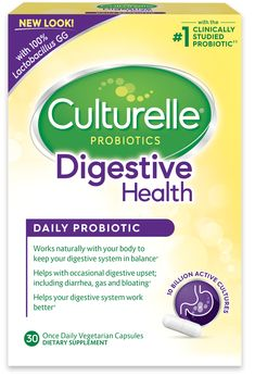 Culturelle Probiotics Digestive Health Daily Probiotic 30 Capsules New Unopened Health Tips, Health And Wellness, Health And Beauty, Health Benefits, Women's Health, Health Care, Gut Microbiome, Capsule, Health Products