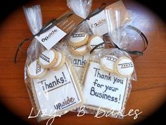 Corporate 'leave behinds' by lizybbakes, via Flickr