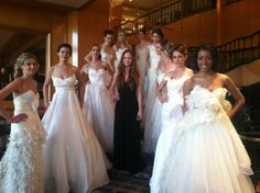 2nd from LEFT: MULBERRY 3rd from LEFT: MAGNOLIA  Fashion Week New Orleans bridal show