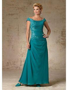 A-line Ankle-length Bateau Neck Appliqued Taffeta Mother Of the Bride Dresses - Mother of the Bride Dresses