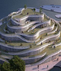 A bicycle park with museum & visitor center by design studio JDS. This would be great fun!!!