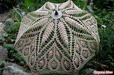 *Ажурные зонтики Crochet Fabric, Crochet Doilies, Crochet Lace, Crochet Bikini, Filet Crochet, Irish Crochet, Crochet Stitches, Crochet Designs, Crochet Patterns