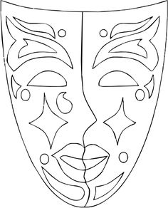 Adult coloring pages Mascara can be a cosmetic commonly familiar with help the eye Adult Coloring Pages, Colouring Pages, Coloring Books, Carnival Crafts, Carnival Masks, Theme Carnaval, Mandala, Mask Template, Mardi Gras Beads