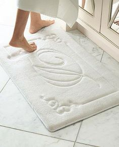 Your guest bath or master bath becomes even more personal with our Monogrammed Memory Foam Rug.