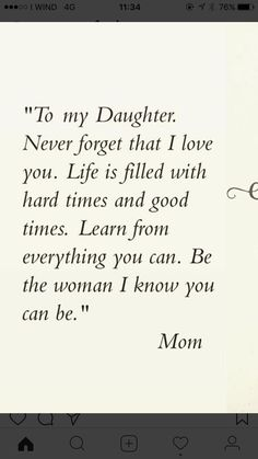 """Looking for the best mother and daughter quotes? Love your mom? Check out our collection of the best quotes and sayings below. Top Mother Daughter Quotes """"A mother is a daughter's best friend."""" """"A mother's treasure Mother Daughter Quotes, I Love My Daughter, My Beautiful Daughter, Quotes About Daughters, Mothers Love Quotes, Raising Daughters, Quotes About Mother, Missing My Daughter Quotes, My Baby Girl Quotes"""