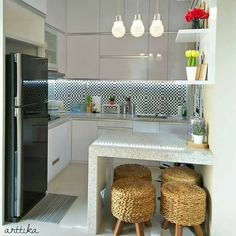 Trendy Home Bar Designs Farmhouse Ideas Kitchen Room Design, Home Room Design, Kitchen Layout, Kitchen Decor, Design Bedroom, Bedroom Decor, Small Kitchen Cabinets, Kitchen Sets, Small House Furniture