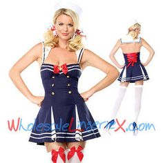 Halloween Costume Adult Ladies Navy Pin-Up Girl Sailor Outfit Hens Fancy Dresses Costume Marin, Navy Costume, Costume Dress, Sailor Costumes, Girl Costumes, Adult Costumes, Sexy Costumes For Women, Halloween Costumes For Girls, Girl Halloween