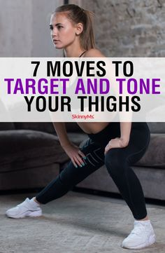 With a mix of cardio and thigh building exercises, our 7 Moves to Target and Tone Your Thighs will build a solid pair of legs you can be proud of. Best Weight Loss, Weight Loss Tips, Lose Weight, Lose Fat, Weight Lifting, Skinny Ms, Best Cardio, Butt Workout, Leg Workouts