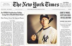 Prima o poi doveva succedere: domenica scorsa, non senza polemica, il New York Times ha pubblicato in prima pagina una foto di Instagram al posto di una fotografia tradizionale. Il soggetto è Alex Rodriguez, giocatore di baseball dei New York Yankees ed è stata scattata dal fotografo Nick Laham. Qualcosa sta veramente cambiando!