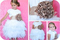 Sienna Dress Remix ***Feather Tutus REMOVABLE, so the dresse can be washed and the tutu skirt put back on again ...link to tutorial http://www.simplesimonandco.com/2011/09/project-run-and-play-feather-tutu.html