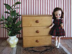 Vintage Strombecker Type Dresser For Small Dolls by TheToyBox
