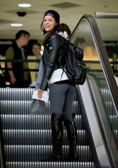 Michelle Rodriguez at LAX Airport