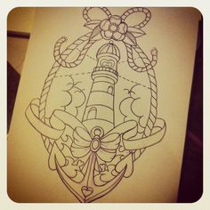 lighthouse tattoo. I want to revamp this tattoo and turn that lighthouse into the lighthouse from bioshock infinite with some of my favorite vigors around it ^_^!!!!