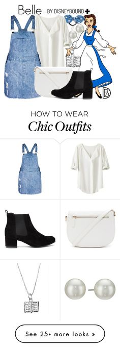 """Belle+"" by leslieakay on Polyvore featuring Disney, Cara, TravelSmith, City Chic, Forever 21, Kenneth Jay Lane, disney, disneybound and plussize"